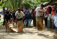Indonesia sack race