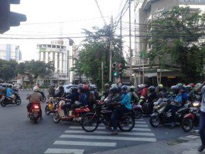 pedestrians must cross streets on zebra crossing