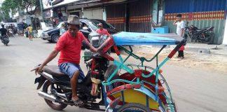 Lampung Motorized Three wheeler - Betor Becak bermotor