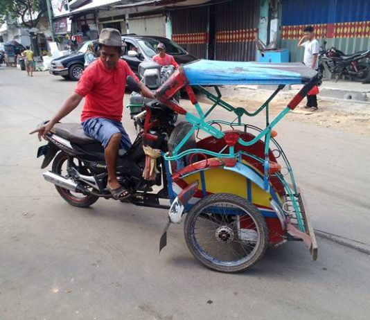 Lampung Motorized Three wheeler - Betor Becak bermotor